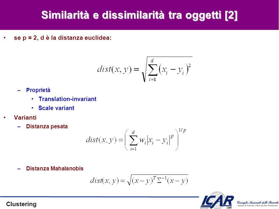 Similarità e dissimilarità tra oggetti [2]